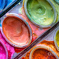 Watercolor Ovals One by Heidi Smith