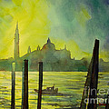 Watercolor Painting Of The Dome Of San Giorgio Maggiore Church I by Ryan Fox