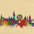 Watercolor Skyline Of London by Chris Smith