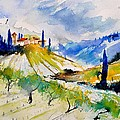 Watercolor Toscana 317040 by Pol Ledent