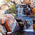 Waterfall Among Rocks by Barb Baker