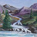 Purple Mountain River by Carol Verstoppen