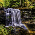 Waterfall And Rainbow by Nick Zelinsky