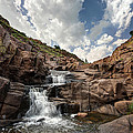 Waterfall At Forty Foot Hole In The Wichita Mountains by Todd Aaron