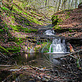 Waterfall At Parfrey's Glen by Jonah  Anderson