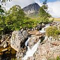 Waterfall Below Stob Dearg by David Head