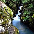 Waterfall, Glacier National Park by Bill Bachmann
