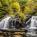 Waterfall In Autumn by Debra and Dave Vanderlaan