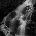 Waterfall In Black And White by Bill Gallagher