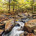 Waterfall In The Fall Nh by James Steele