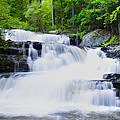 Waterfall In The Pocono Mountains by Bill Cannon