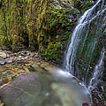 Waterfall In The Wilderness Of Powell River B.c by Pierre Leclerc Photography