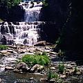 Waterfall Into The Stream by Jo Jurkiewicz