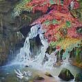 Japanese Waterfall by Jeff Troeltzsch