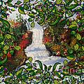 Waterfall - Kinetic Energy by Artist Nandika  Dutt