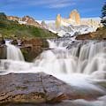 Los Glaciares Waterfall by Yva Momatiuk John Eastcott