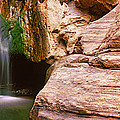Waterfall Rushing Through The Rocks by Panoramic Images