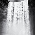 Waterfall Skogafoss Iceland Black And White by Matthias Hauser