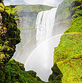 Waterfall Skogafoss Iceland Europe by Matthias Hauser