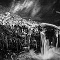 Waterfalls Childs National Park Painted Bw   by Rich Franco