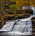 Waterfalls In The Fall by Susan Candelario