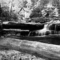 Waterfalls Mill Black N White by Randall Branham