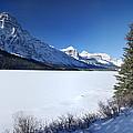 Waterfowl Lake And Mount Chephren by Pete Hemington