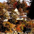 Waterfront Home In Fall by John Potts