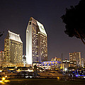 Waterfront Hotels At Night by Joe Darin