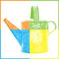 Watering Can Pop Art by Edward Fielding