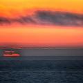 Waterline Sunset 17573 by Jerry Sodorff