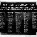 Waterloo Roll Of Honor 1914 1918 by Gina Dsgn