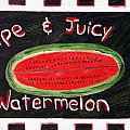 Watermelon Market Sign by Maura Satchell