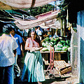 Watermelons At The Market by Cathy Anderson