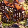 Watermill by Drazenka Kimpel