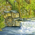 Watermill In The Woods by Phyllis Muller
