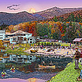 Waterville Estates In Autumn by Nancy Griswold