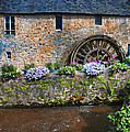 Waterwheel In Brittany by Dave Mills