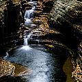 Watkins Glen Waterfalls by Kaye Seaboch