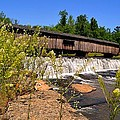 Watson Mill Covered Bridge From The Jetty by James Potts