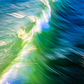 Wave Abstract Triptych 1 by Brad Brizek