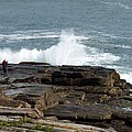 Wave Hitting Rock by Catherine Gagne