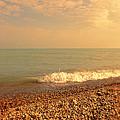 Wave On Rocky Beach by Jill Battaglia