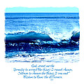 Wave Serenity Prayer by Tina Meador