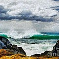 Waves And Rocks by Elizabeth Coats