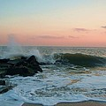 Waves At The Point West Cape May Nj by Eric  Schiabor