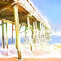Waves By The Pier by Alice Gipson
