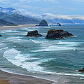 Waves Coming Ashore by Dale Kauzlaric