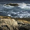 Waves Crashing Against The Shore In Acadia National Park by Randall Nyhof
