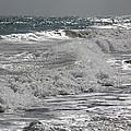 Waves Crashing At Sunset by Becky Canterbury